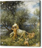 Three Faun With Cow And Calf Acrylic Print