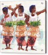Three Fijian Dancers Acrylic Print