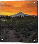 Mount Jefferson At Sunset Acrylic Print