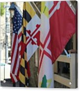 Three Flags Acrylic Print