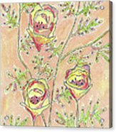 Three Flowers Acrylic Print