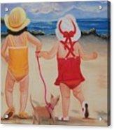 Three For The Beach Acrylic Print by Joni McPherson