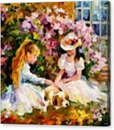 Three  Friends Acrylic Print by Leonid Afremov
