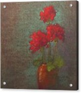 Three Geraniums Acrylic Print