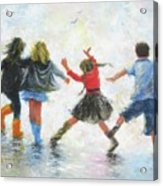 Three Girls And Boy Acrylic Print