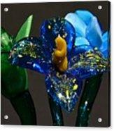 Three Glass Flowers Acrylic Print