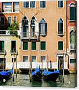 Three Gondolas Acrylic Print