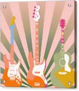 Three Guitars Pop Art Acrylic Print