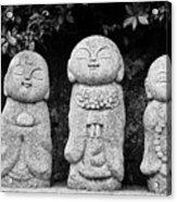 Three Happy Buddhas Acrylic Print by Dean Harte