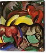 Three Horses 1912 Acrylic Print