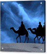 Three Kings Travel By The Star Of Bethlehem - Midnight Acrylic Print