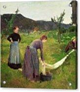 Three Ladies Washing Acrylic Print