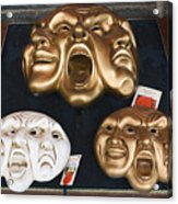 Three Masks For Sale, Venice Acrylic Print