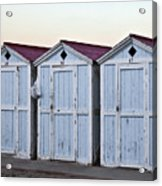 Three Modello Beach Cabanas Acrylic Print