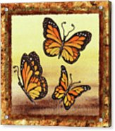 Three Monarch Butterflies Acrylic Print