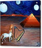 Three Moons Acrylic Print by Pilar  Martinez-Byrne