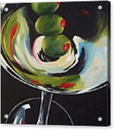 Three Olive Martini IIi  Acrylic Print