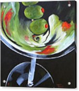 Three Olive Martini IV  Acrylic Print