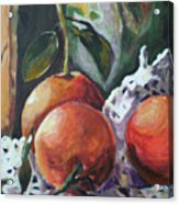 Three Oranges Acrylic Print