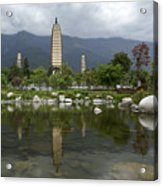 Three Pagodas Of Dali Acrylic Print