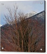 Three Peaks In Winter Acrylic Print
