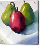 Three Pear Acrylic Print
