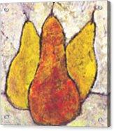 Three Pears Acrylic Print