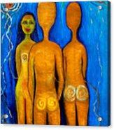 Three People Acrylic Print by Pilar  Martinez-Byrne