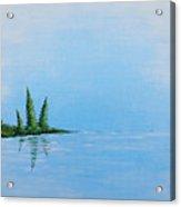 Three Pine Island Acrylic Print