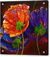 Three Poppies Acrylic Print