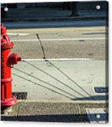 Three Red Lines Acrylic Print