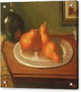 Three Red Pears And Cognac Acrylic Print