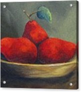 Three Red Pears  Acrylic Print