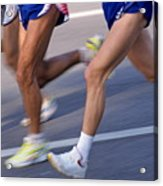 Three Runners Acrylic Print by Sami Sarkis