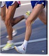 Three Runners Acrylic Print by Sami Sarkis