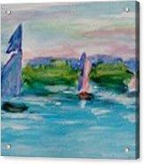 Three Sailboats Acrylic Print