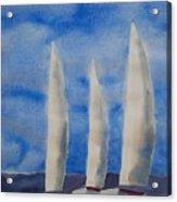 Three Sails Acrylic Print