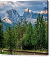 Three Sisters And The Railroad Acrylic Print