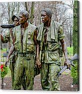 Three Soldiers Memorial Acrylic Print