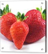 Three Strawberries Acrylic Print