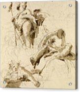 Three Studies Of The God Bacchus Acrylic Print