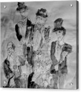 Three Tenors And A Pianist Acrylic Print