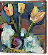 Three Tulips Acrylic Print