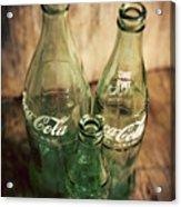 Three Vintage Coca Cola Bottles  Acrylic Print