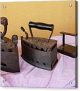 Three Vintage Irons Acrylic Print