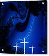 Three White Crosses Acrylic Print