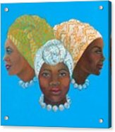 Three Women Acrylic Print