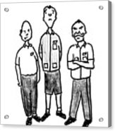 Three Workers Acrylic Print