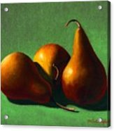 Three Yellow Pears Acrylic Print