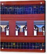 Threereflective Columns Acrylic Print